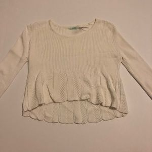 Cream Urban Outfitters cropped sweater